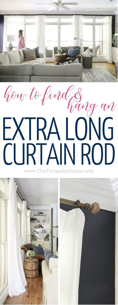 How to Find and Hang an Extra Long Curtain Rod