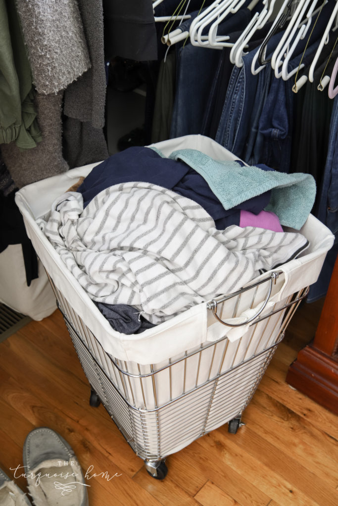 Rolling Clothes Hamper with washable liner