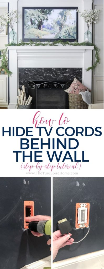 How to Hide TV Cords Behind the Wall