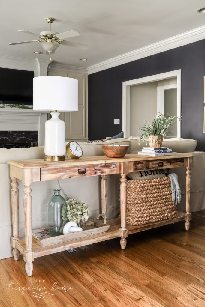 Console Table Behind a Sofa