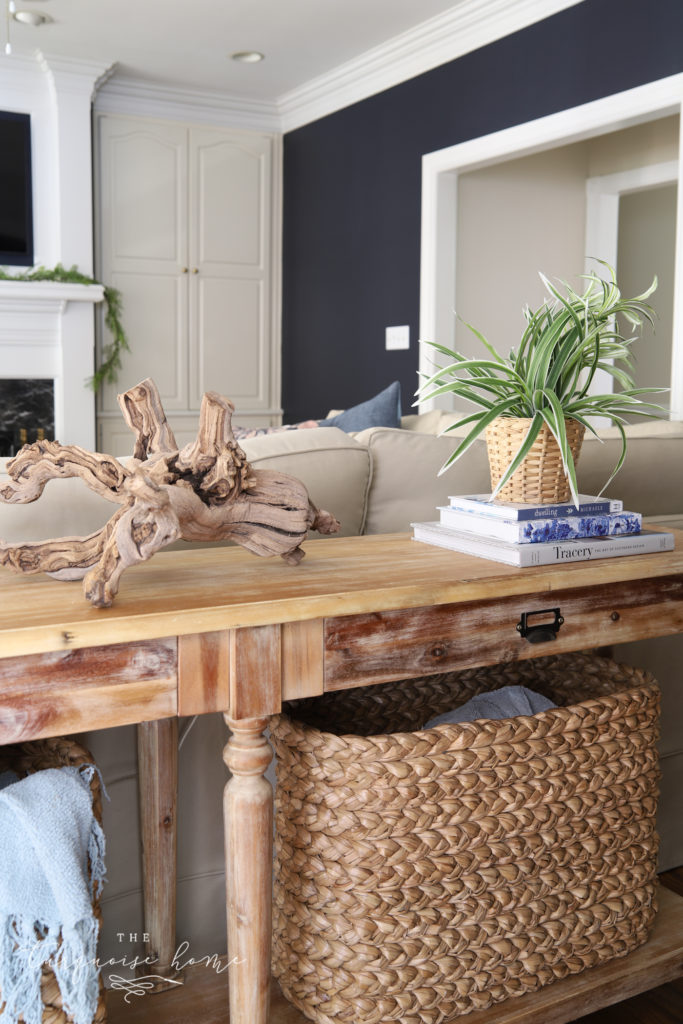 Styling a Sofa Table Behind a Couch