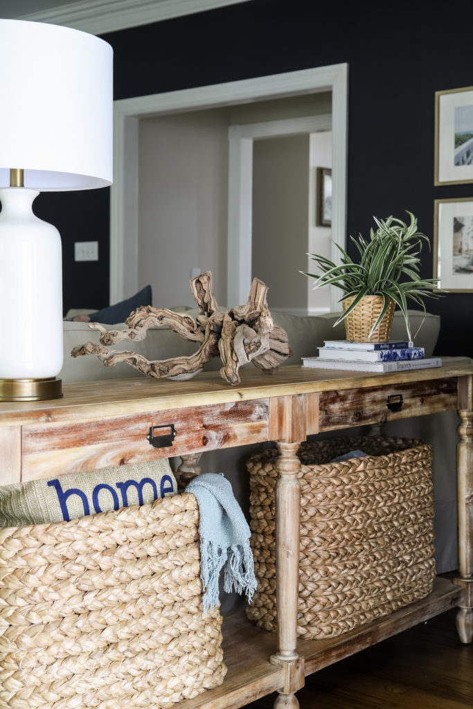 Console Table with Traditional Decor