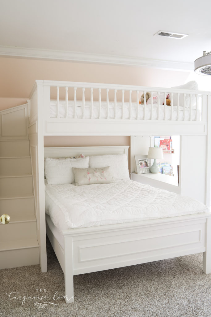 Loft Bed with Full Set of Stairs