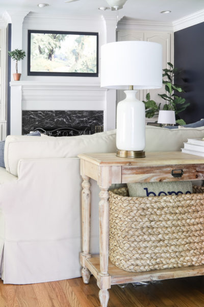 Cozy, Navy Living Room Reveal