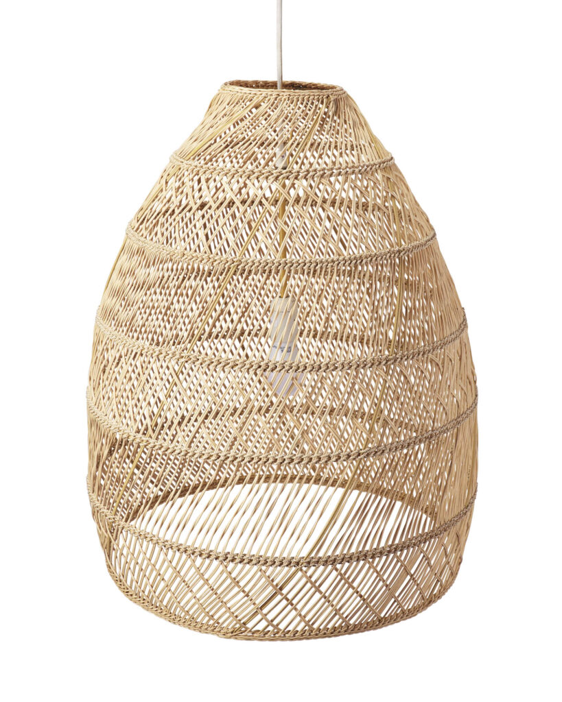 Pendant Light with Woven Shade