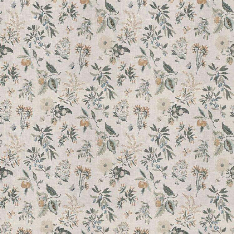 Fabricut Fleur Botanical Fabric in La Mer
