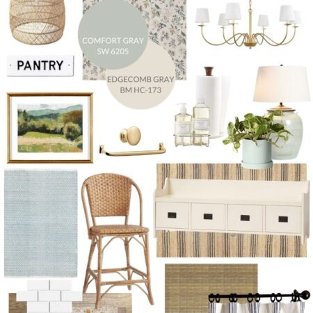 Traditional Coastal Kitchen Mood Board