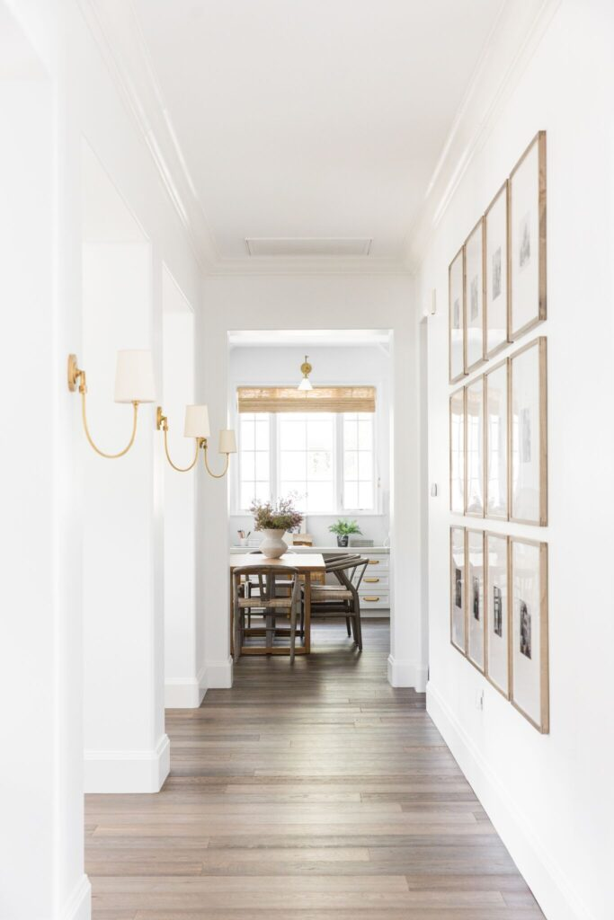 Hallway with Sconce Lighting
