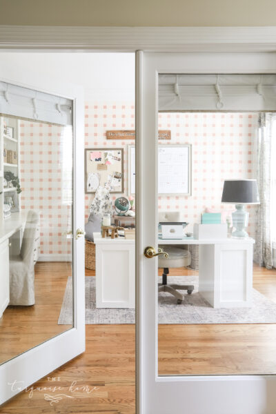 Blush & Brass Home Office Reveal