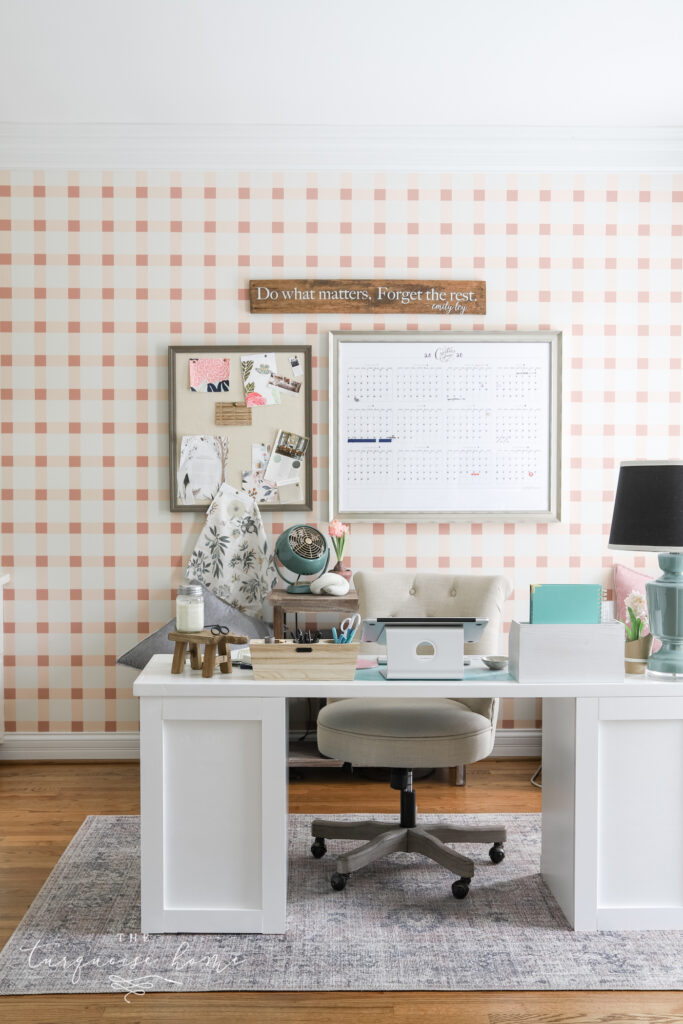 Blush and Brass Home Office