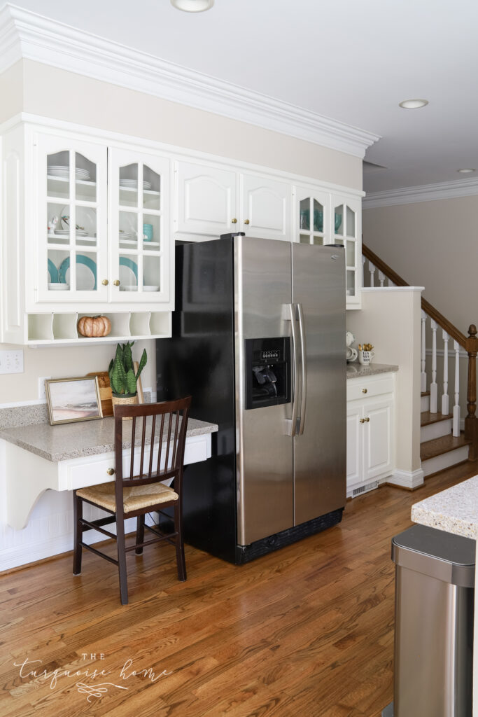 Kitchen with White Cabinets and Fall Decor