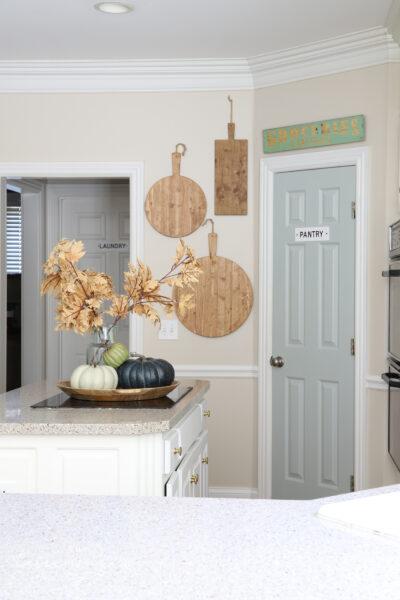 Sherwin Williams Comfort Gray painted door