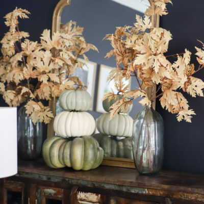 Faux Muted Orange Fall Leaves