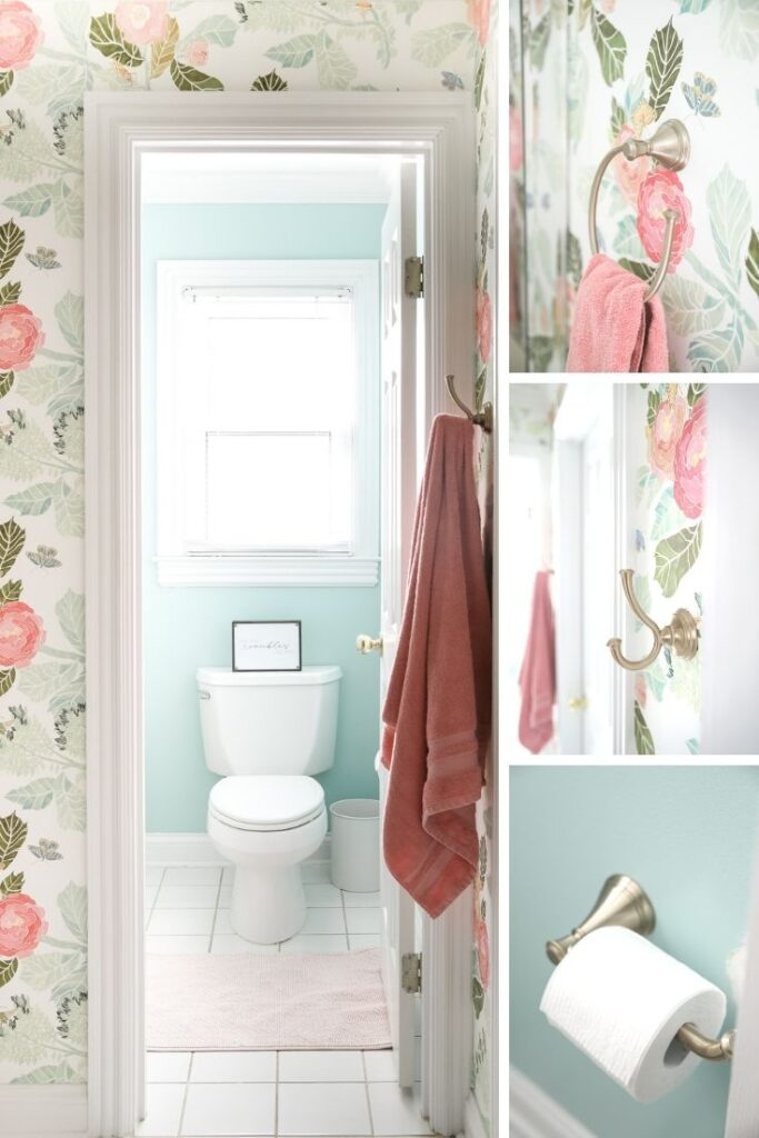 Baby Aqua by Behr painted in the bathroom
