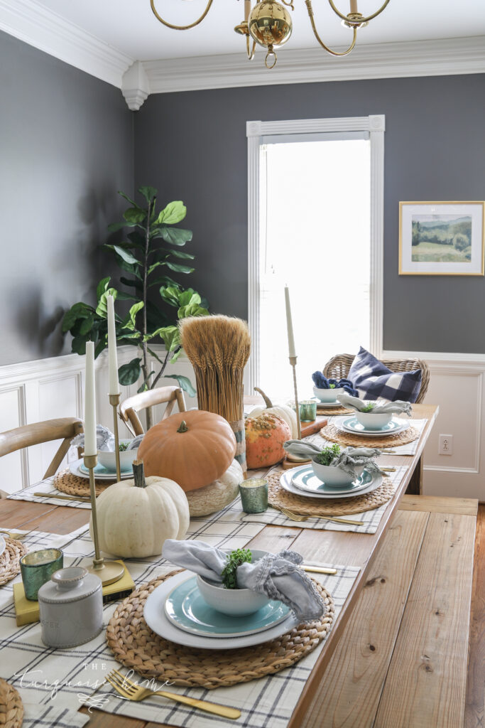 Simple Fall Dining Room Tablescape
