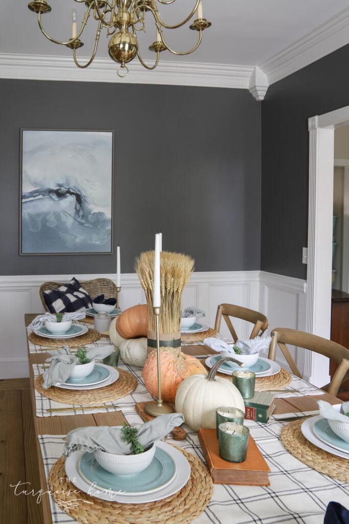 cozy fall dining room decor