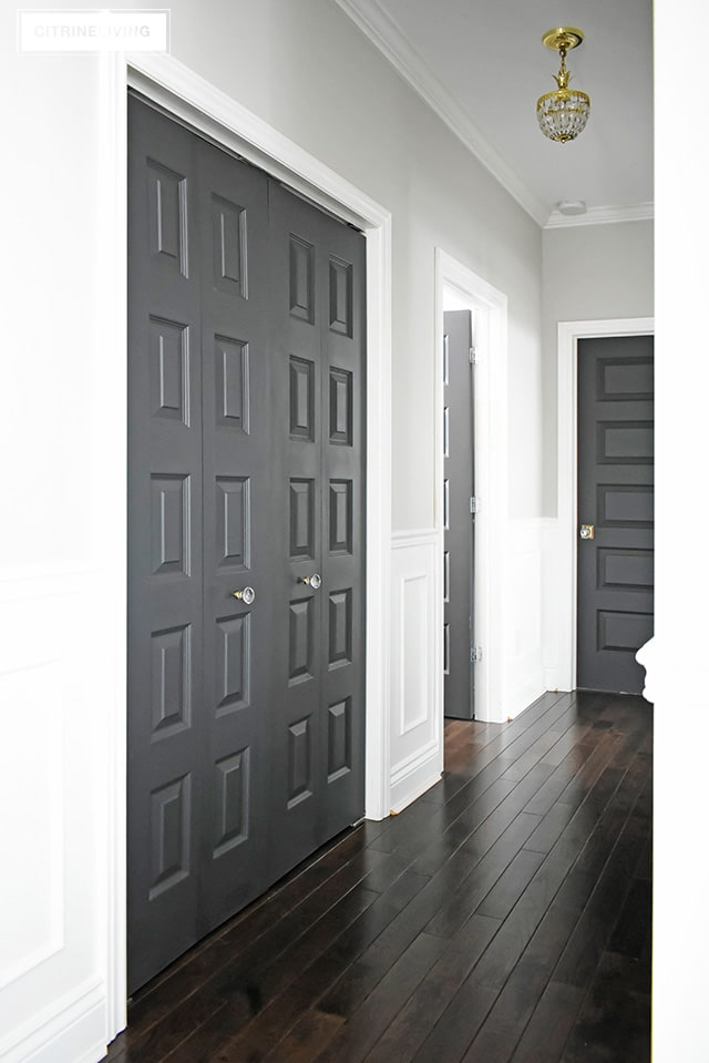 Interior Doors painted Cracked Pepper by Behr