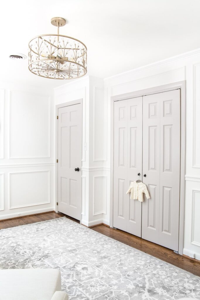 Gray Doors in Blesser House Nursery Reveal