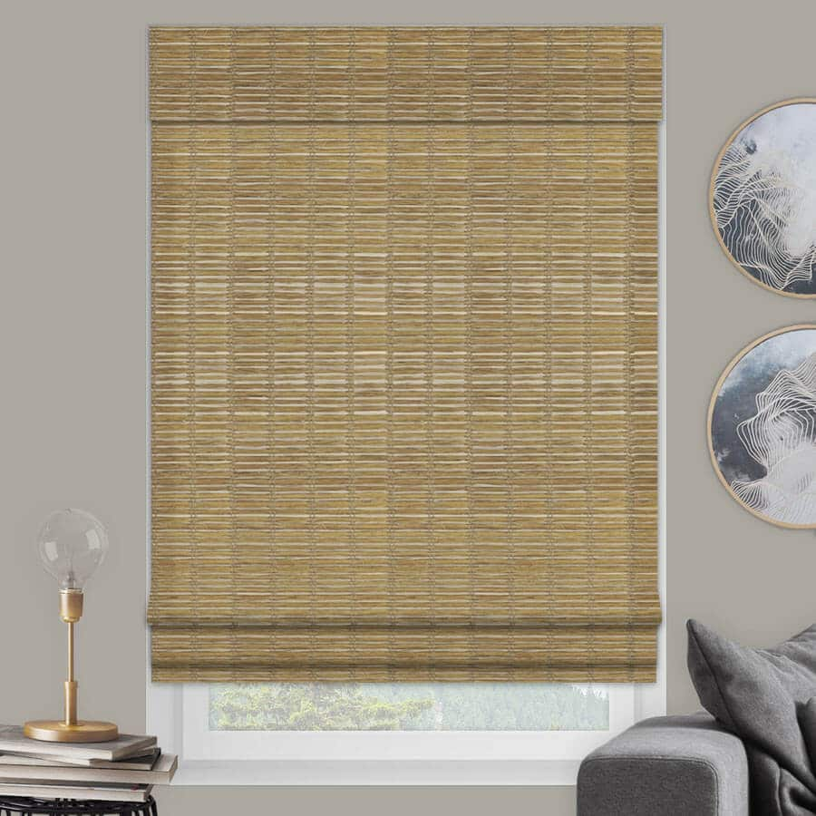 Bamboo Woven Wood Shades in Jute Wheat