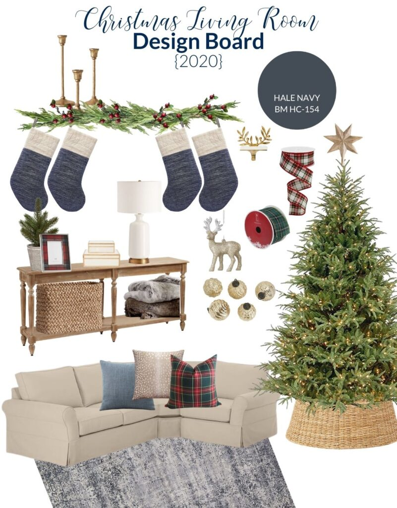 Living Room Christmas Decorating Plans