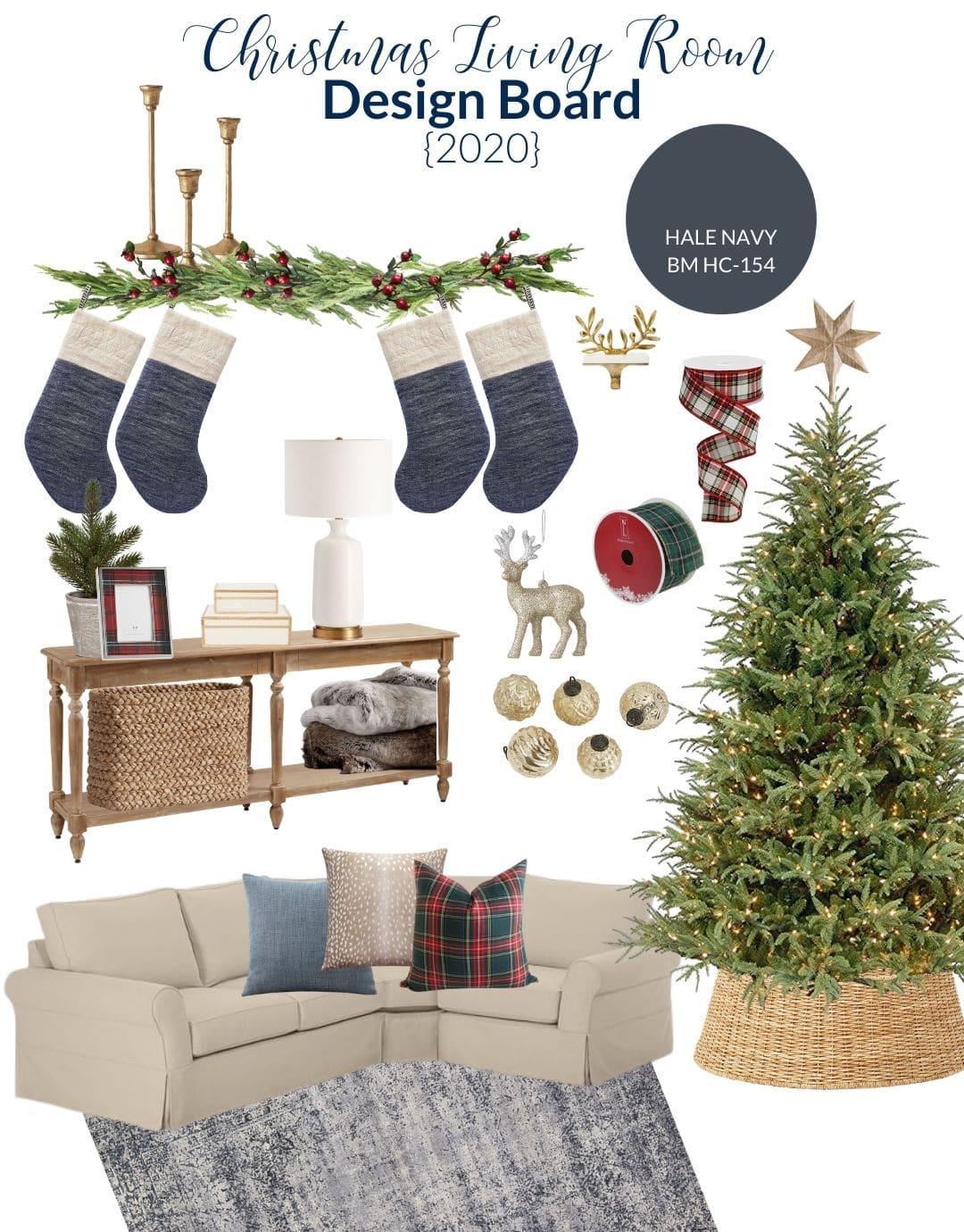 Living Room Christmas Decorating Plans