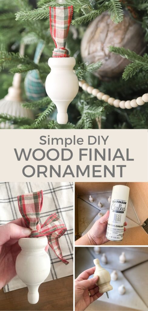 DIY Wood Finial Ornament