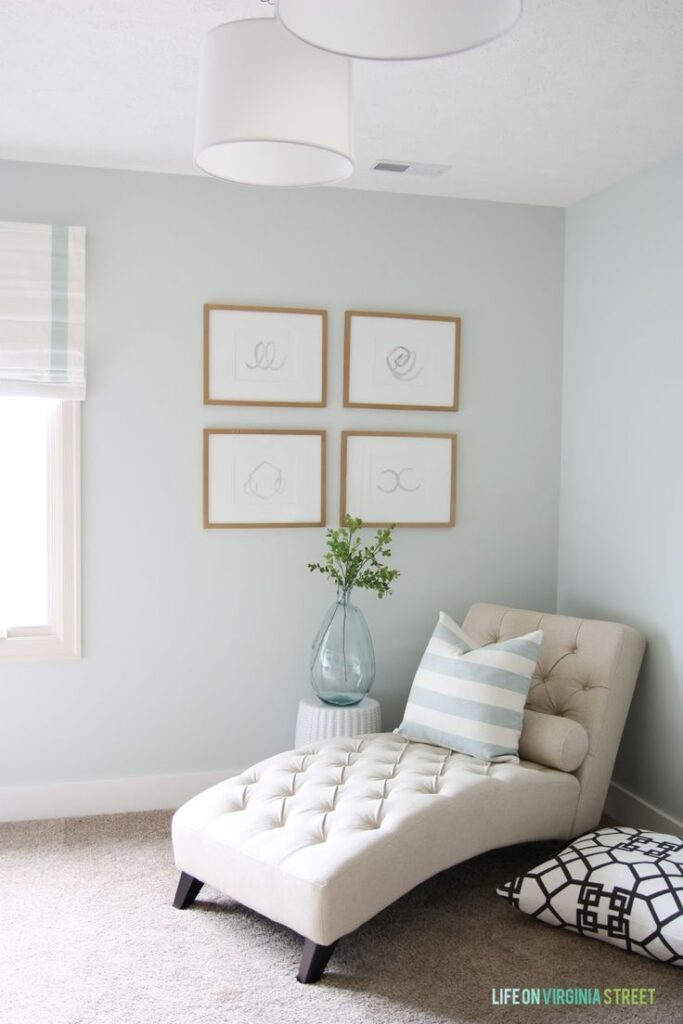 Healing Aloe is a beautiful, soft green paint color, as seen in this sweet room.