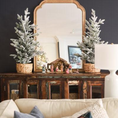 Nativity Scene in the Living Room Christmas Decor