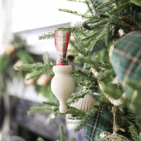 DIY Wooden Finial Christmas Ornament