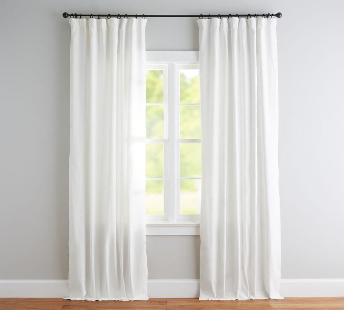 Emery Linen/Cotton Rod Pocket Curtains