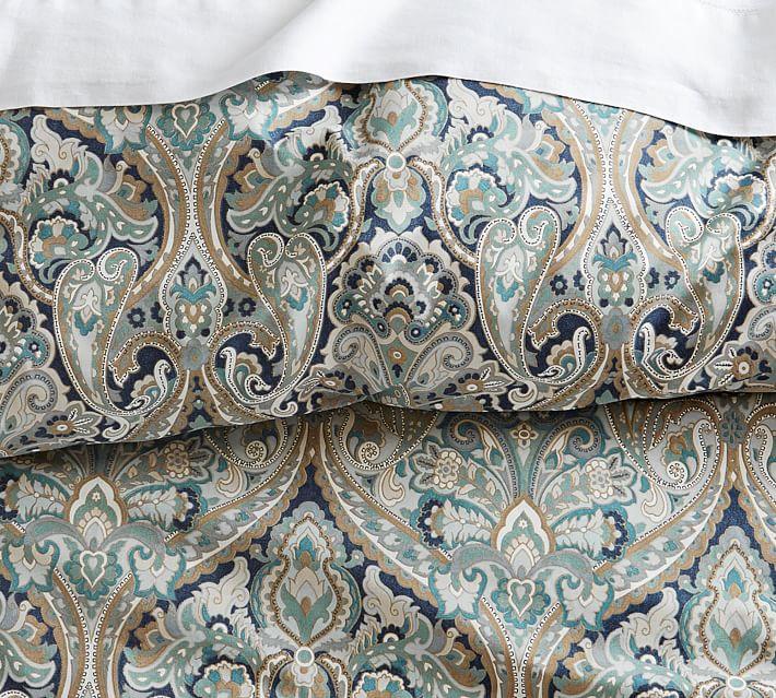 Mackenna Paisley Percale Duvet Cover