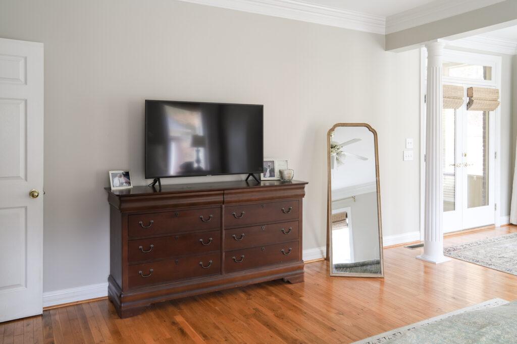 Master Bedroom Dresser, TV and Mirror