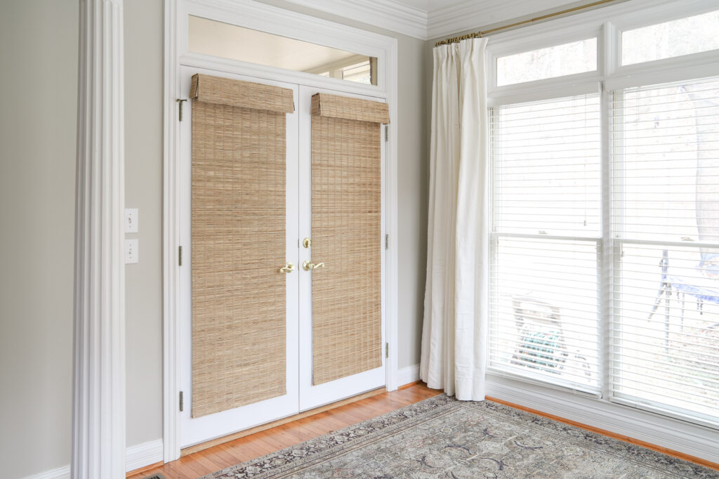 Bamboo Shades on French Doors