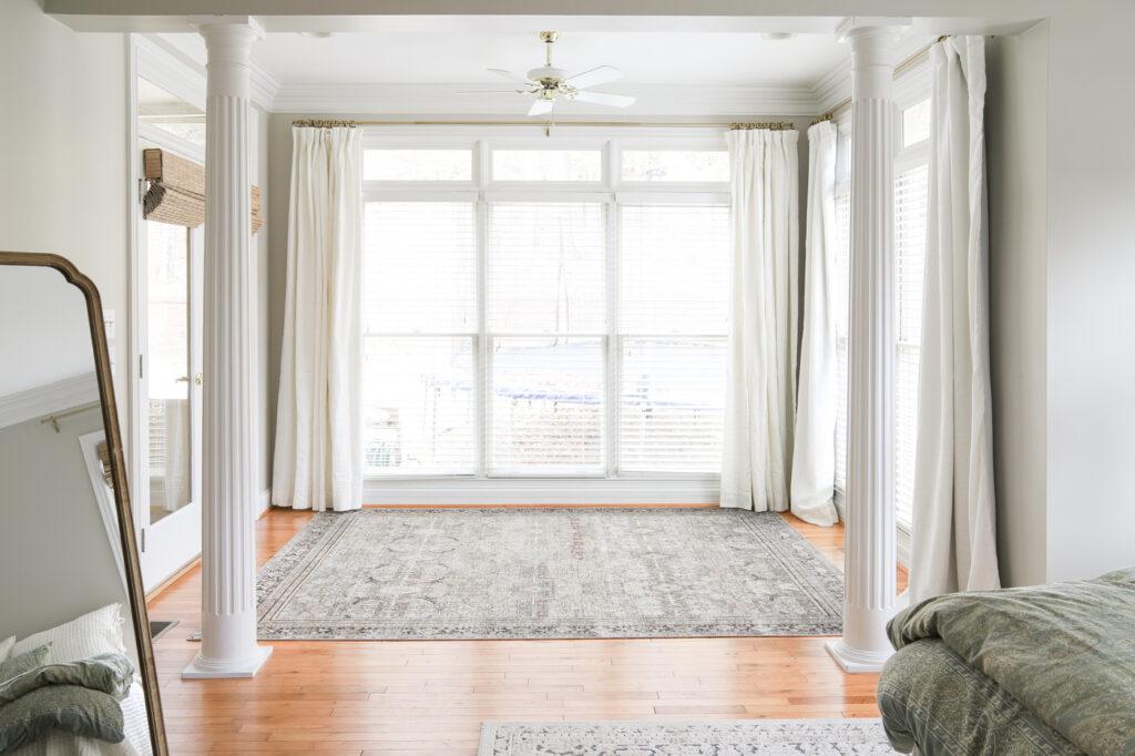 Master Bedroom Sitting Room Window Treatments