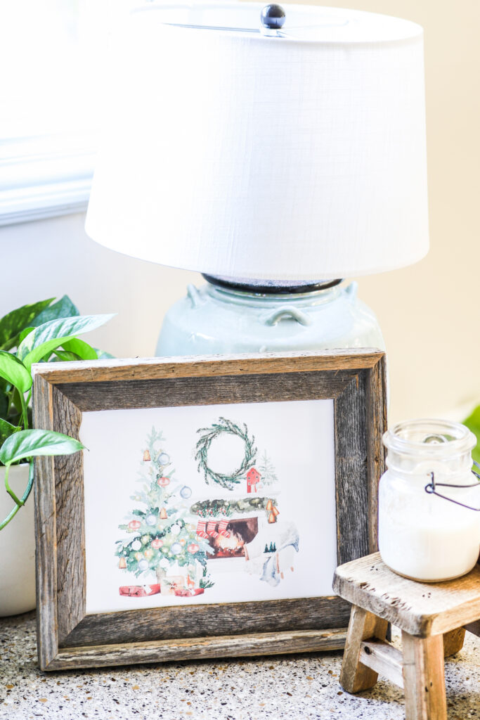 Living Room Christmas Scene Free Printable
