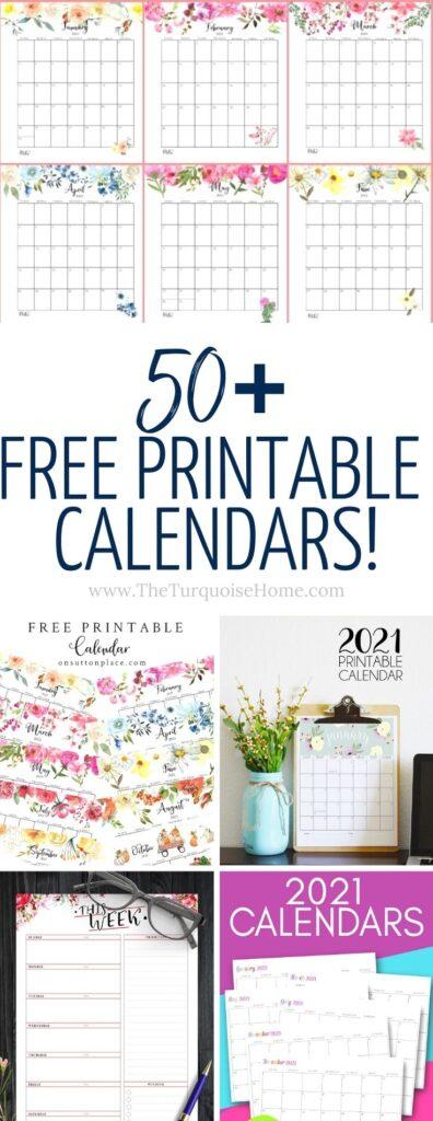 Free Printable Calendars 2021