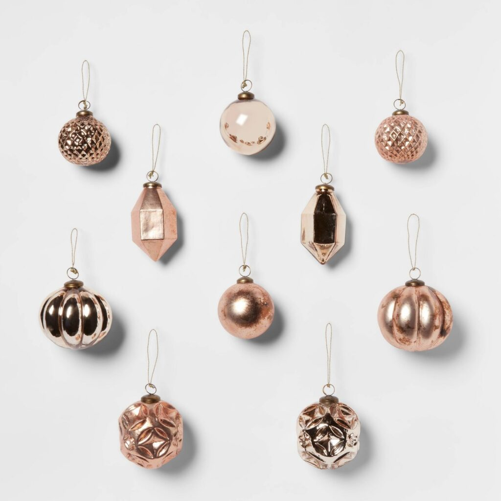Gold & Blush Christmas Ornaments by Studio McGee x Target