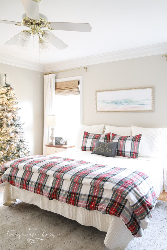 My Christmas Bedroom Decor Ideas Inspiration The Turquoise Home