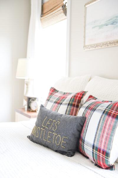 Let's Mistletoe Pillow