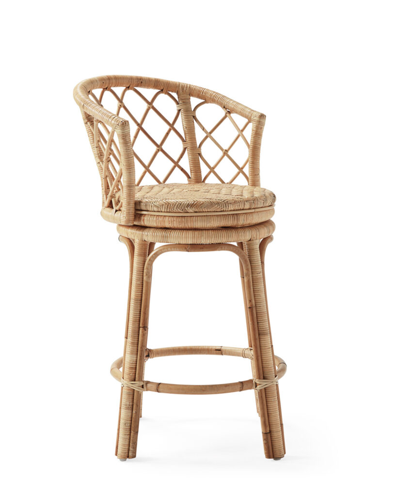 Avalon Swivel Counter Stool in Natural