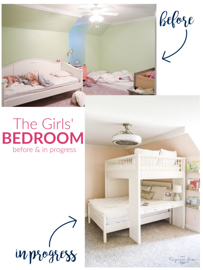 Girls' Bedroom Before & After