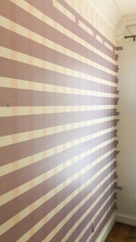 Horizontal Stripes on a Plaid Wall