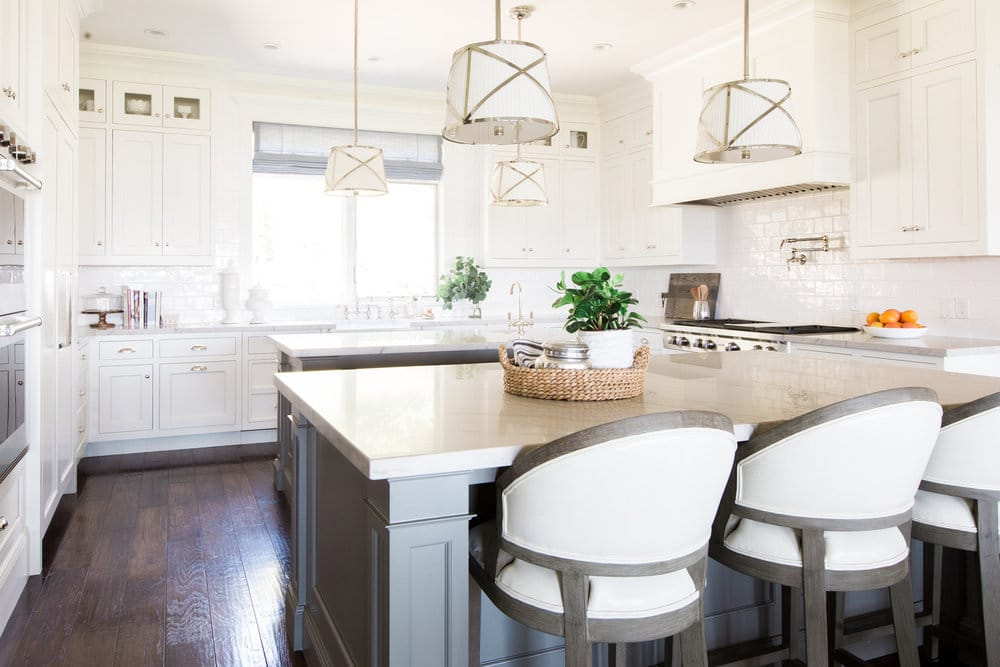 kitchen remodel with Swiss Coffee paint