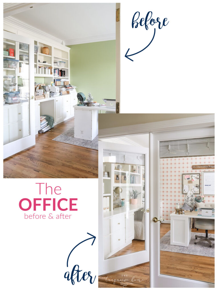 Blush & Brass Home Office Before & After