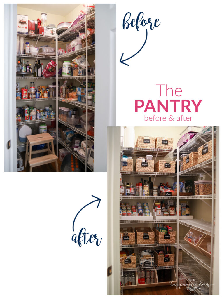 Organized Pantry Before & After