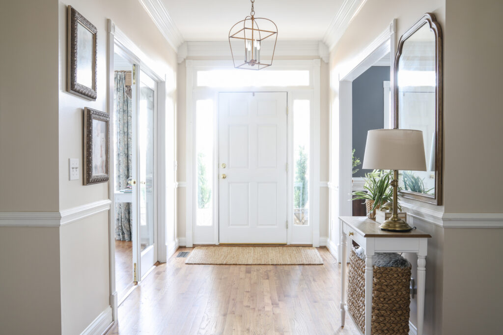 Foyer with Edgecomb Gray Walls