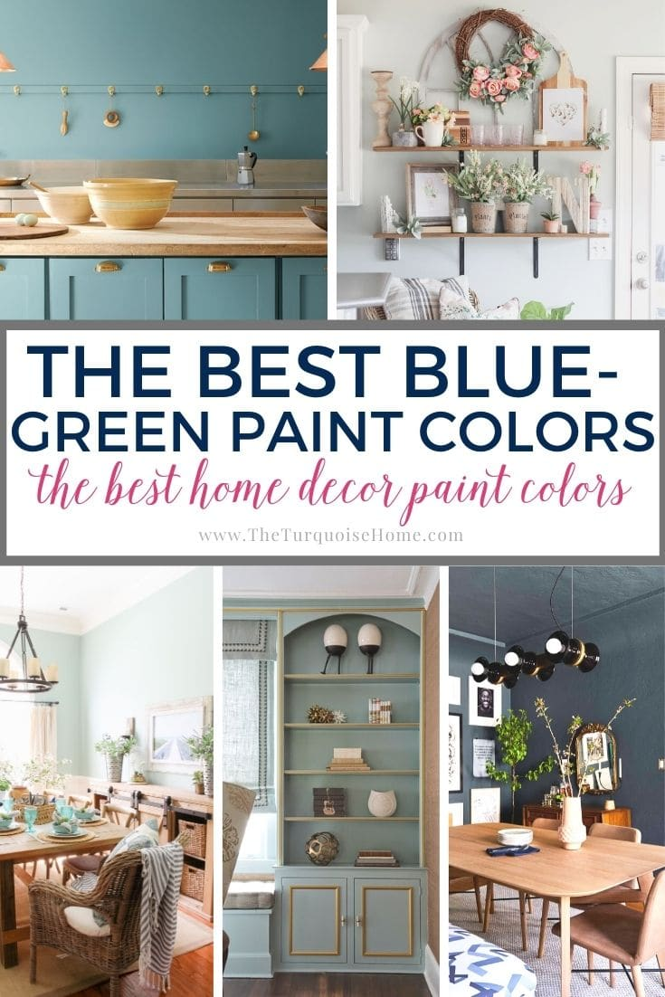 The Best Blue Green Paint Colors