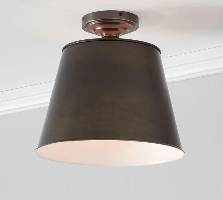 Custom Tapered Semi Flush Mount Light