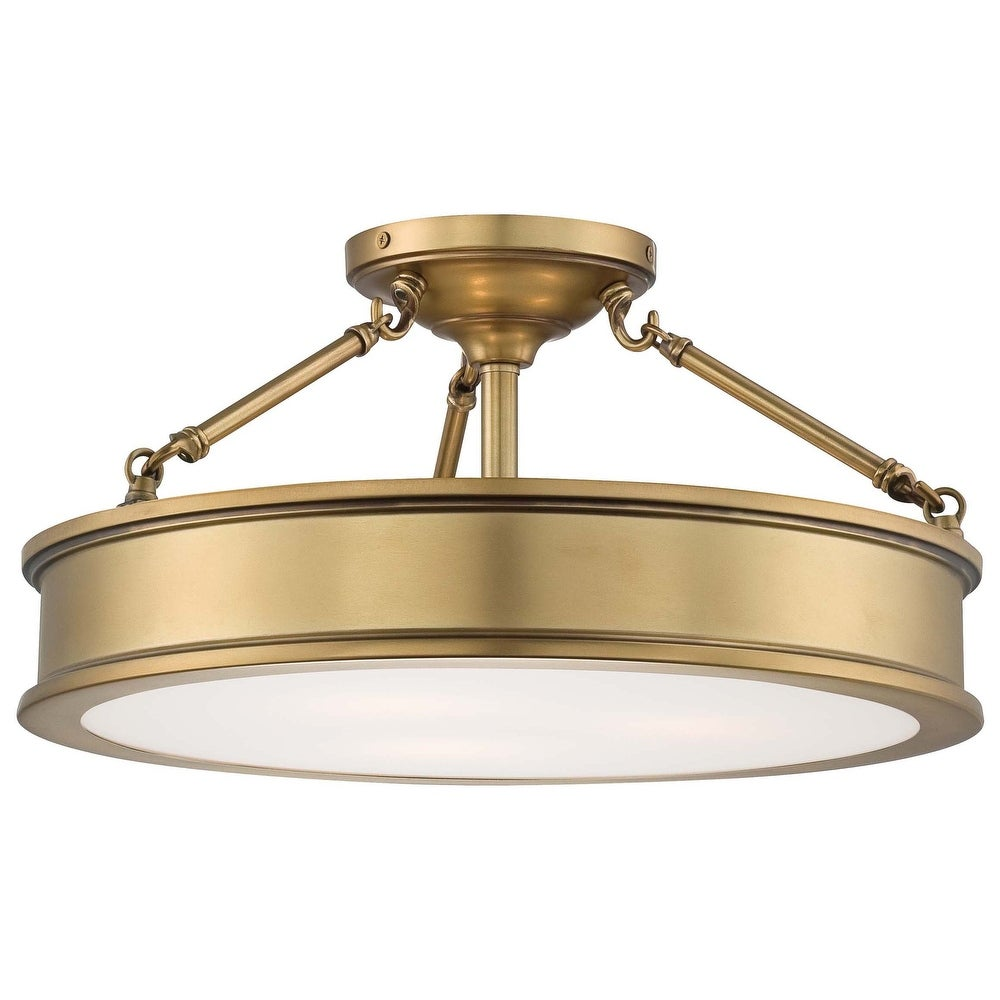 Harbour Point 3 Light Semi-Flush Mount