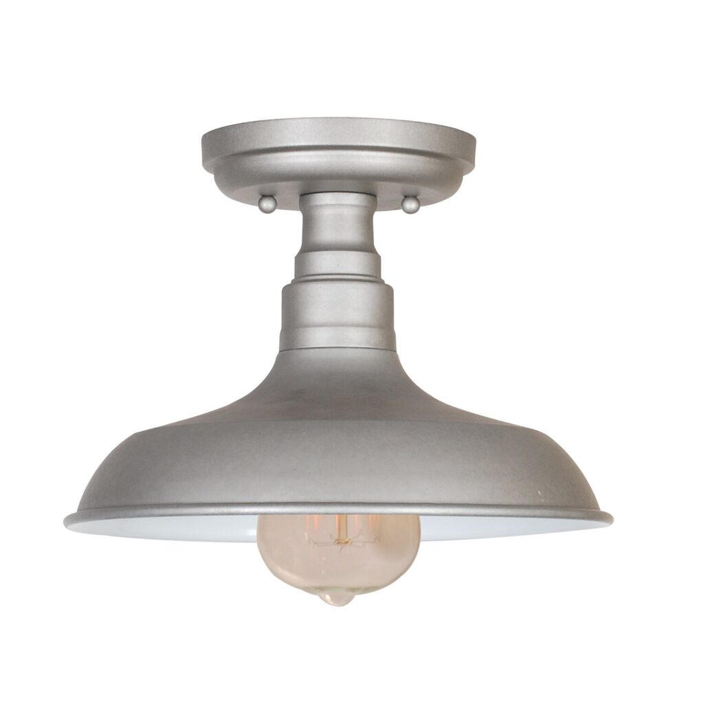 Simple Dome Semi Flush Mount Light